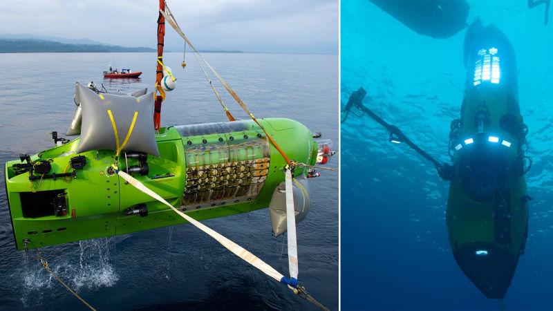 Tàu Deepsea Challenger đã đưa đạo diễn James Cameron tới khám phá những vùng nước sâu trong lòng đại dương.