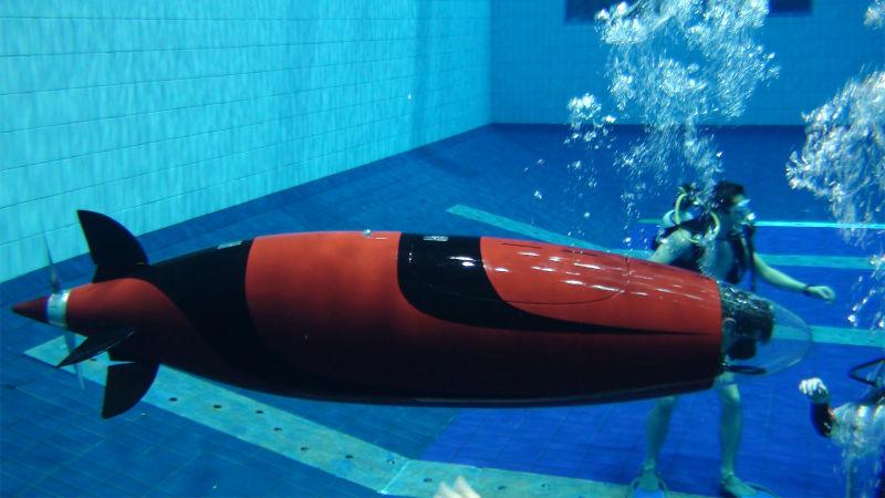 Tàu ngầm Omer 8 được chế tạo bởi các sinh viên trường Đại học Công nghệ Montreal (Bỉ)