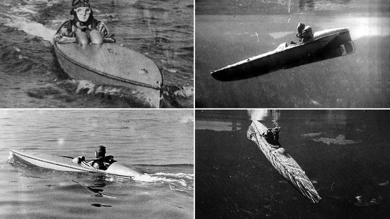 Tàu lặn kiêm canô (MSC) với tên gọi 'Sleeping Beauty'. Tàu này cho phép lính Anh do thám trên mặt nước hoặc tấn công người nhái trong Chiến tranh thế giới thứ hai.