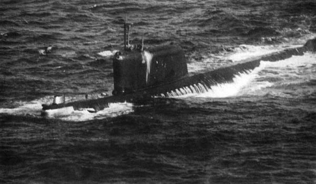 Ngày 4/7/1961, tàu ngầm K-19 của Liên Xô bị rò rỉ phóng xạ tại khu vực Bắc Đại Tây Dương