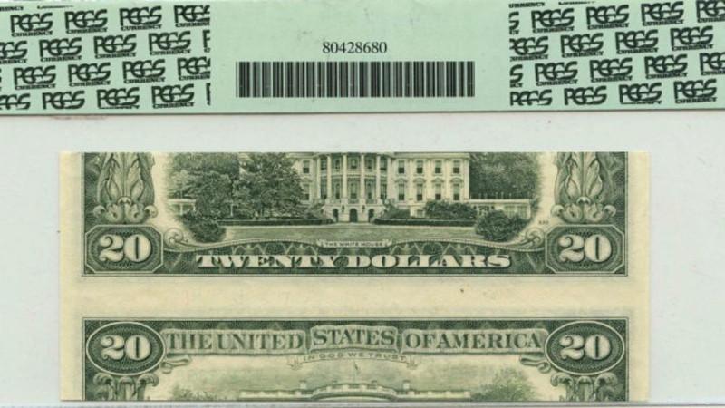 Một trong các tờ tiền có giá trị nhất là tờ đô la Mỹ in mệnh giá cao gấp đôi, tức là mặt trước in giá 10 USD, nhưng mặt sau in 20 USD.