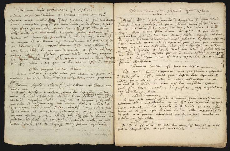 Một bản thảo viết tay về thuật giả kim vào thế kỷ 17 của Isaac Newton