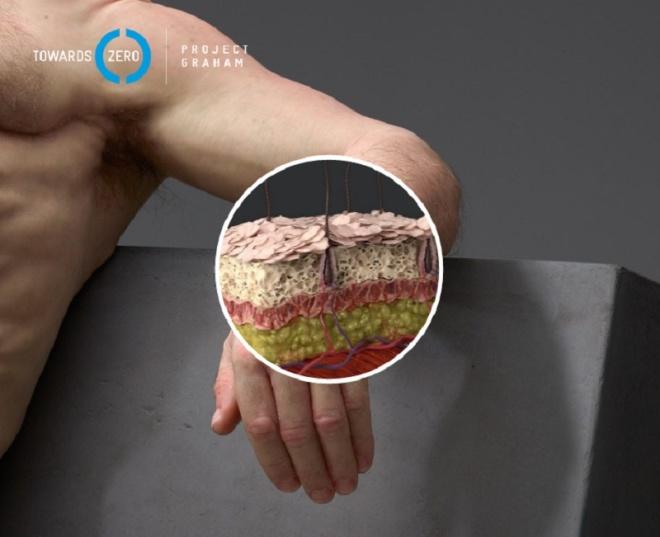 Một số vùng trên cơ thể người khống chế lực tốt hơn, như xương sườn.