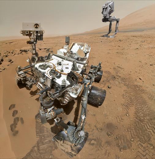 Curiosity - robot tự hành đời mới của NASA trên sao Hỏa.