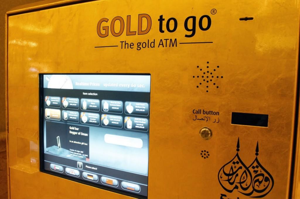 Dubai cũng là nơi duy nhất trên thế giới có máy bán vàng tự động, hay còn gọi là cây ATM vàng.