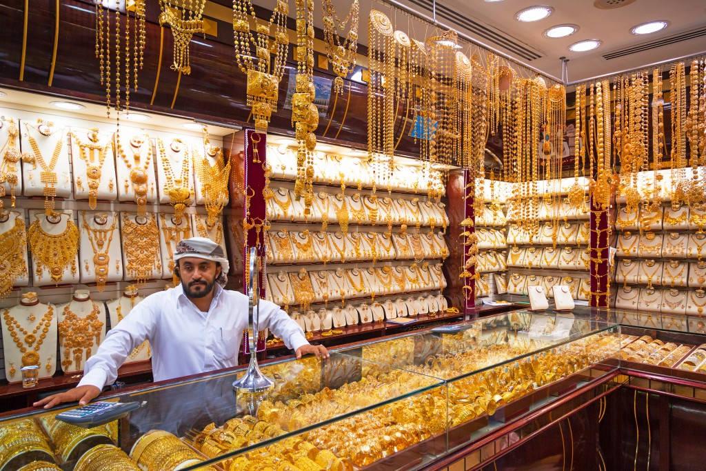 Cửa hàng vàng là nơi du khách không thể bỏ qua ở Dubai.