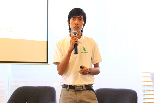Anh Lê Minh Vương của nhóm Thế hệ trẻ ưu tú.