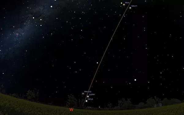 Hệ thống giả lập tạo nên hình ảnh bầu trời Melbourne sẽ như thế nào vào 7 giờ tối ngày 24/8/2016.