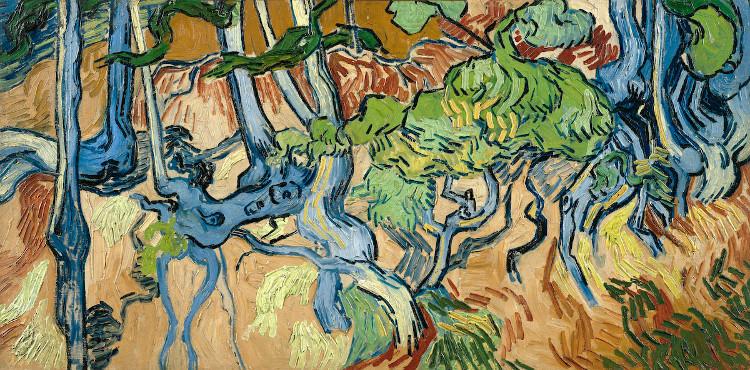 """""""Tree Roots"""" - bức tranh cuối cùng của Van Gogh được ông vẽ vài giờ trước khi tự vẫn."""