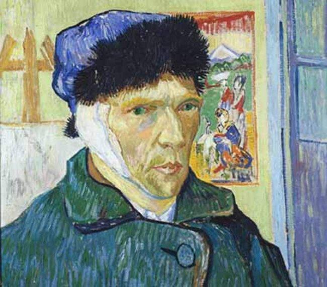 Bức chân dung tự họa Van Gogh vẽ sau khi tự cắt tai.