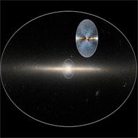 Phát hiện cấu trúc hình chữ X ở trung tâm dải Ngân hà