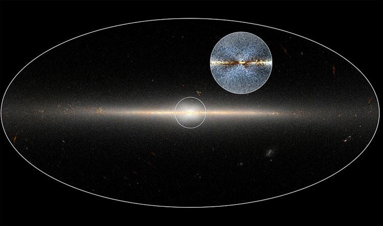 Cấu trúc hình chữ X ở trung tâm thiên hà Milky Way.