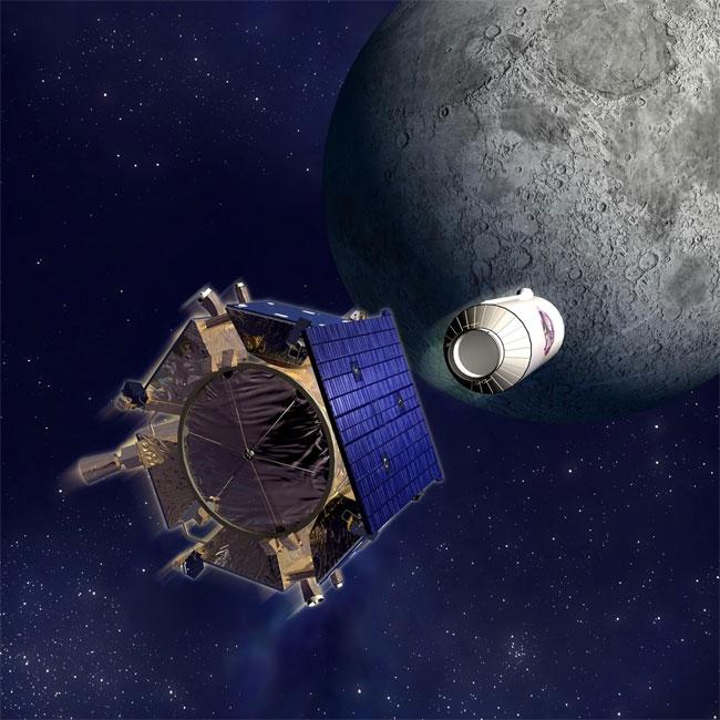 """""""Vệ tinh viễn thám và quan sát các hố đá trên mặt trăng."""