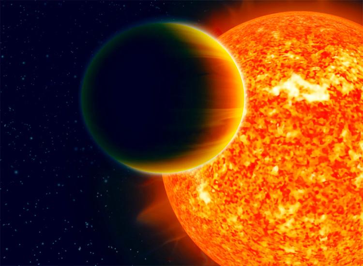 Tâm tỉ cự của mặt trời và sao Mộc nằm bên ngoài ngôi sao vì khối lượng sao Mộc quá lớn.