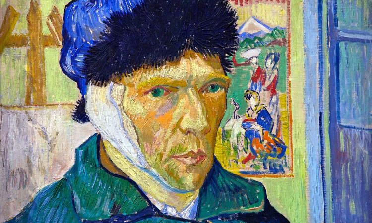 Chân dung tự họa của Van Gogh sau khi xẻo tai.