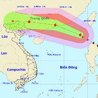 Siêu bão Nida tiến vào Biển Đông với sức gió giật cấp 14-15