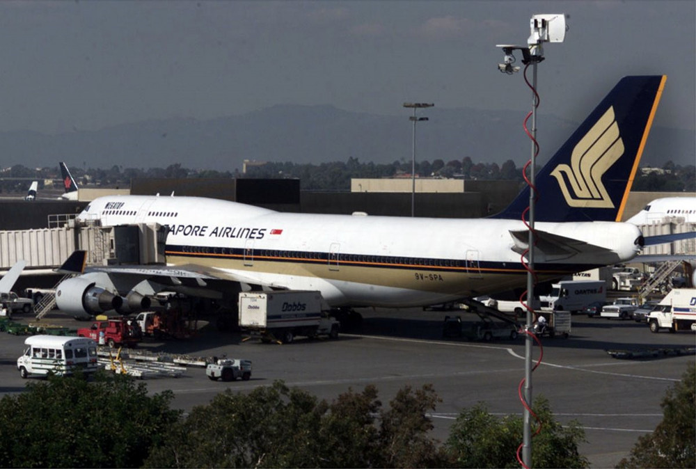 Chiếc Boeing 747 của Singapore Airlines...