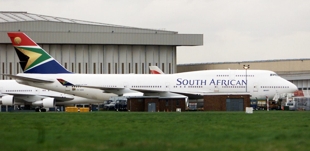 ...của South African Airways...