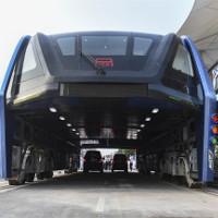 """Trung Quốc thử nghiệm xe buýt """"bay"""""""