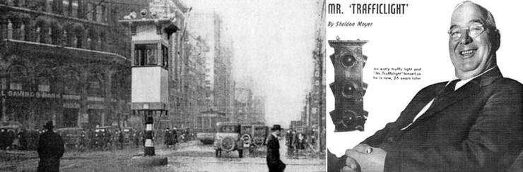 Chiếc đèn giao thông bán tự động đầu tiên được lắp đặt tại giao điểm của Woodward và Michigan Avenues, thành phố Detroit.