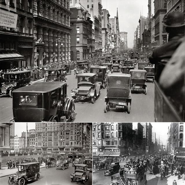 Đến đầu những năm 20 của thế kỷ trước thì những con đường của New York đã chật ních những xe ô tô.