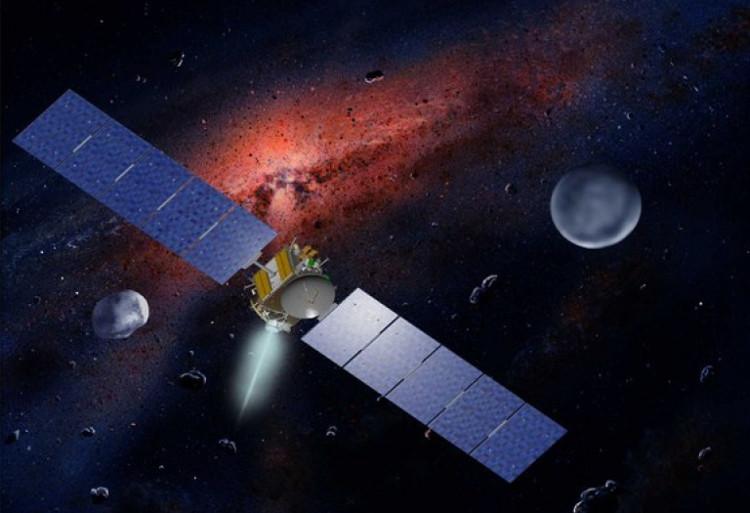 Minh họa tàu vũ trụ Dawn sử dụng tên lửa plasma.