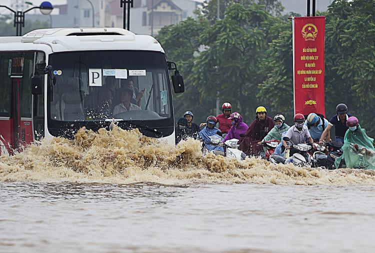 Mưa lớn có khả năng gây ngập ở Hà Nội.