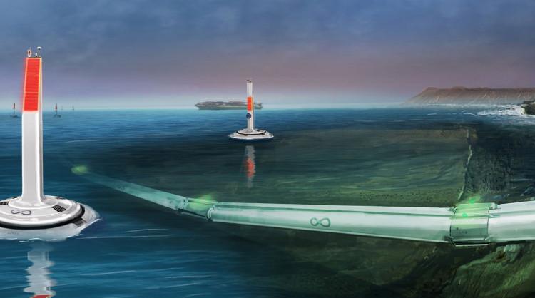 Thiết kế đường tàu Hyperloop dưới nước.