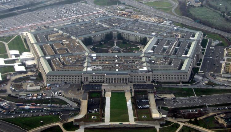Lầu Năm Góc ở Arlington, Virginia, là trụ sở của Bộ Quốc phòng Mỹ.