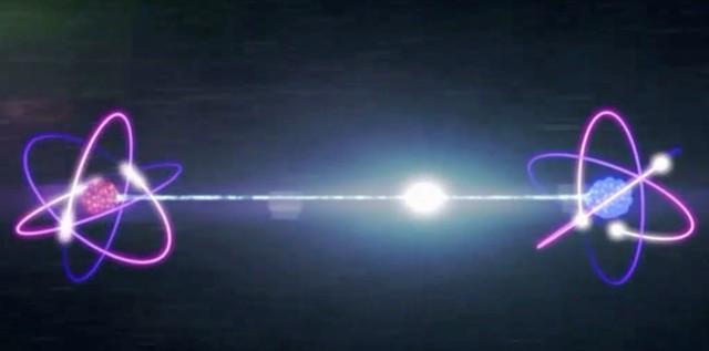 Minh họa về vướng víu lượng tử.