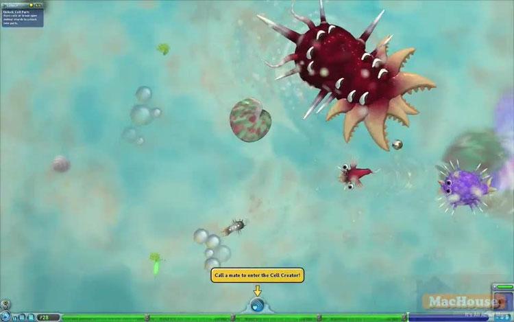 Spore - trò chơi giả lập quá trình tiến hóa.