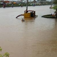 Nhiều nơi ở Hà Nội đã ngập nặng