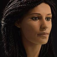 Tái tạo lại khuôn mặt người phụ nữ Ai Cập sống cách đây 1500 năm