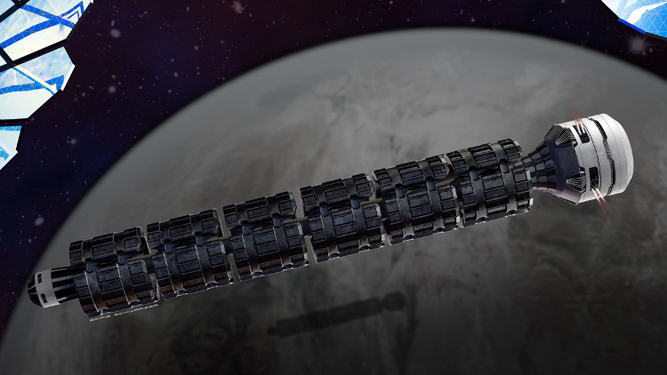 Thiết kế của tàu hỏa vũ trụ Solar Express.