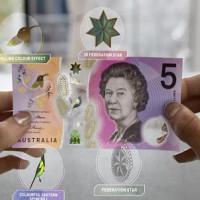 """Úc phát hành tờ 5 đô-la mới """"ảo"""" như bước ra từ phim viễn tưởng"""
