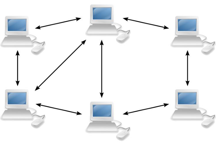Mô hình mạng máy tính Peer-to-peer.