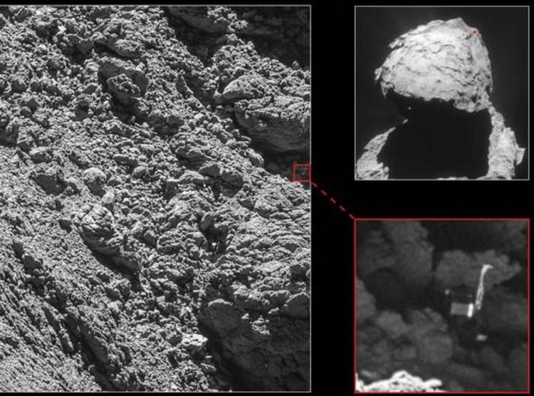 Robot thăm dò Philae mắc kẹt trong rãnh nứt trên sao chổi.