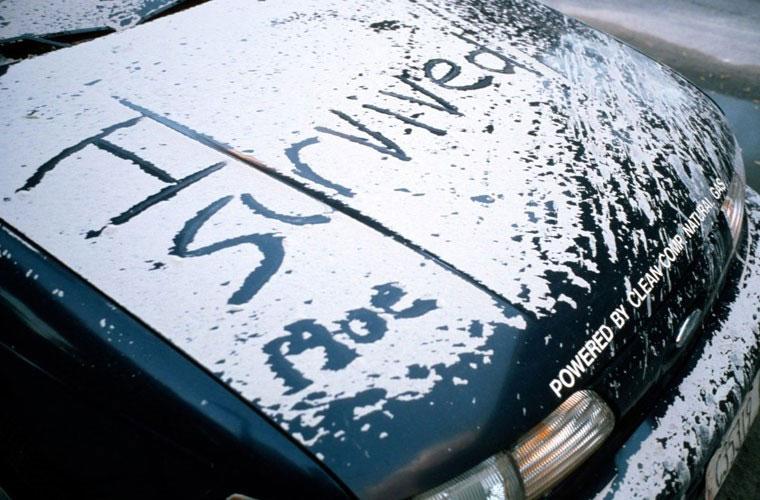Một người sống sót trong vụ tấn công khủng bố 11/9 đã viết lên dòng chữ này lên nắp capo ô tô bị phủ kín bởi bụi.