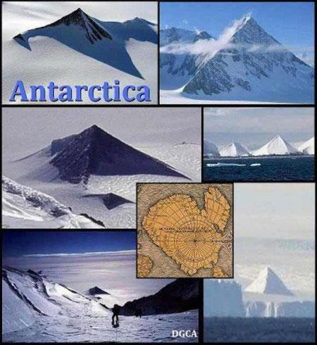 Những núi băng Nam Cực đáng nghi ngờ là kim tự tháp.