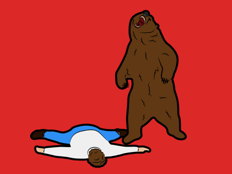 Giả vờ nằm chết khi gấu tấn công thường không mang lại tác dụng gì.