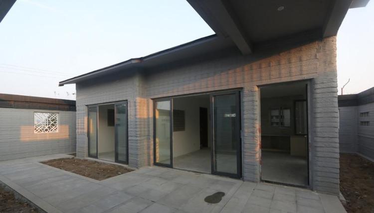 Ngôi nhà xây dựng bằng công nghệ in 3D ở tỉnh Sơn Đông, Trung Quốc.