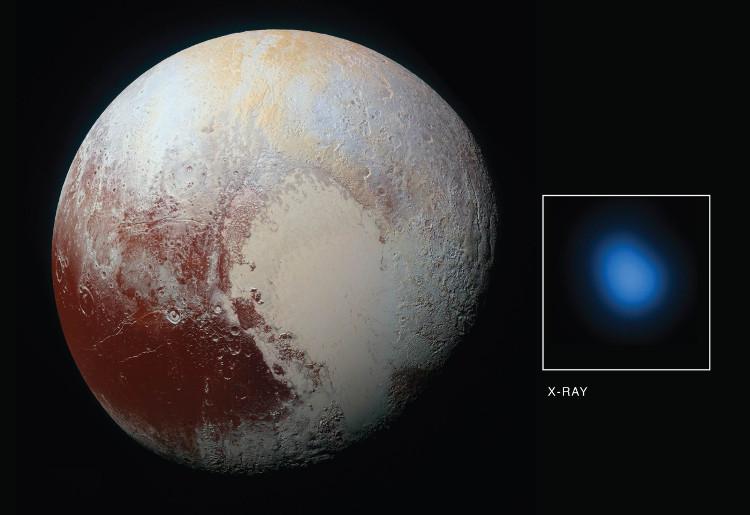 Khoảnh khắc đài thiên văn Chandra chụp được sao Diêm Vương phát ra tia X.