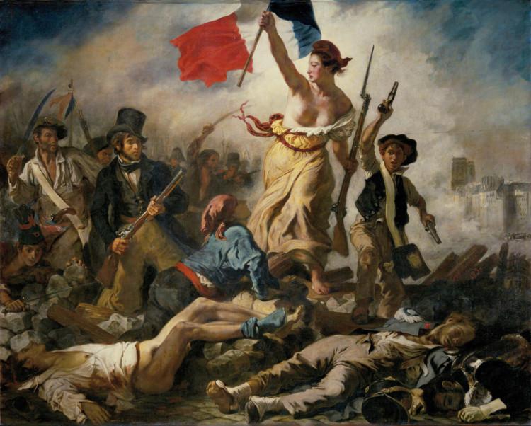"""Bức tranh """"Nữ thần Tự do dẫn dắt nhân dân"""" của Eugene Delacroix."""
