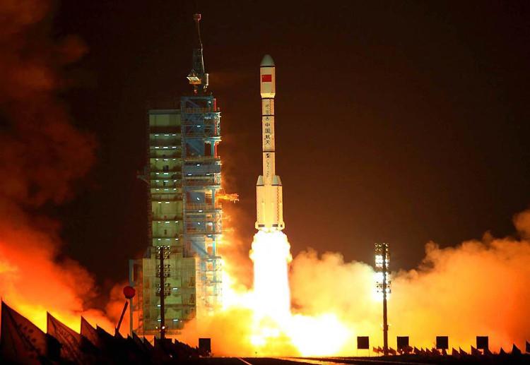 Trạm Thiên Cung 2 phóng vào vũ trụ hôm 15/9 từ sa mạc Gobi.