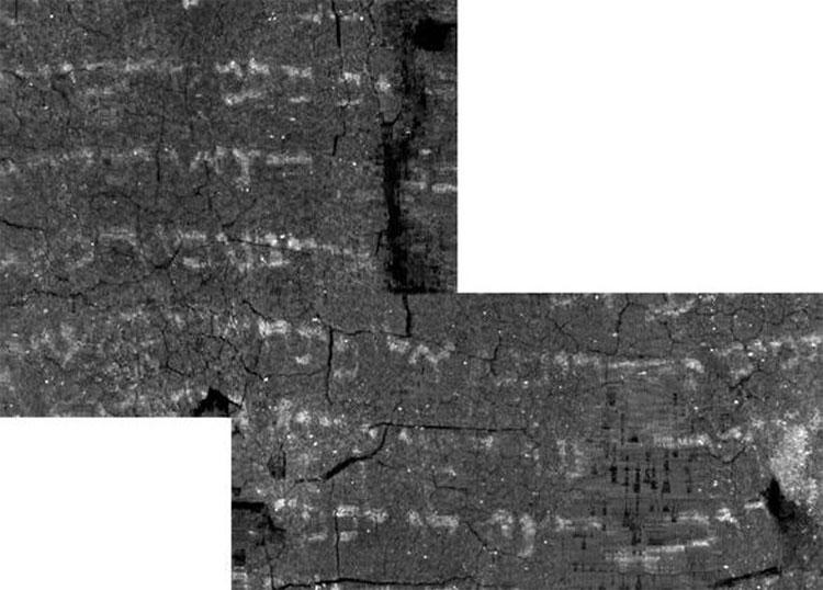 """Nội dung ghi chép trong cuộn giấy đã được lộ diện sau khi """"mở ảo"""" nó ra bằng phần mềm máy tính."""