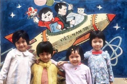 Những đứa trẻ tại một trường mầm non ở Hà Nội.