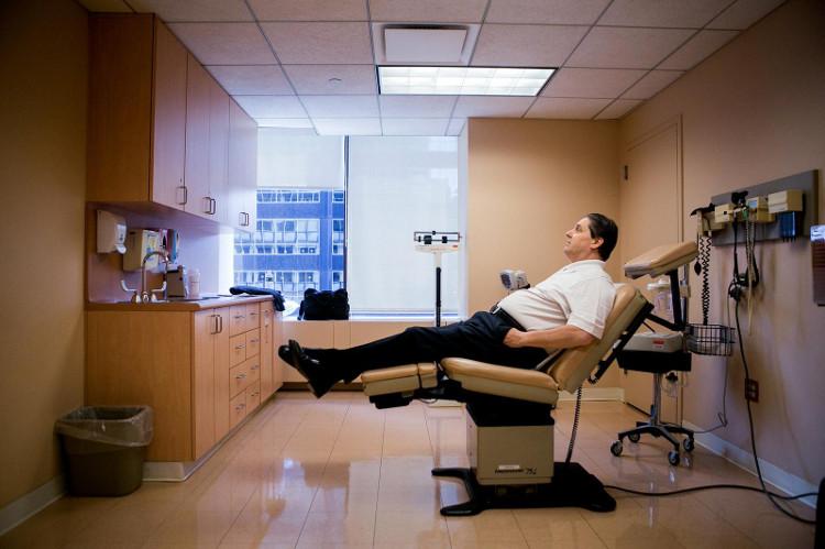 Ông S.Cara tại Trung tâm Ung thư Memorial Sloan - Kettering.