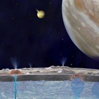 Cột nước phun cao 200.000m trên Mặt trăng của sao Mộc