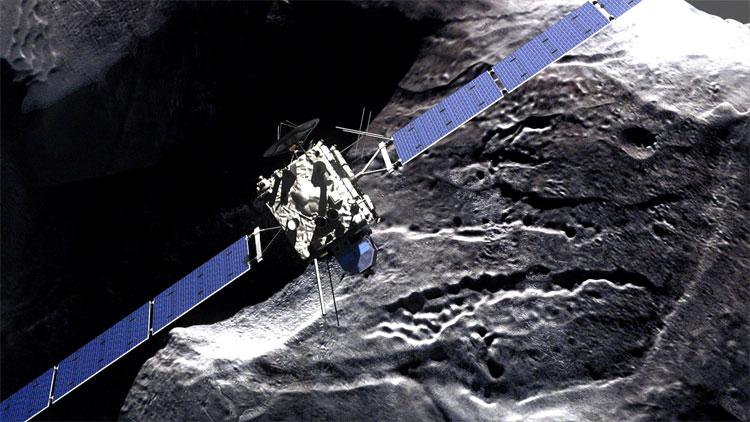 Tàu vũ trụ Rosetta sẽ kết thúc 12 năm trong vũ trụ bằng vụ va chạm với bề mặt sao chổi. (Ảnh: PBS).