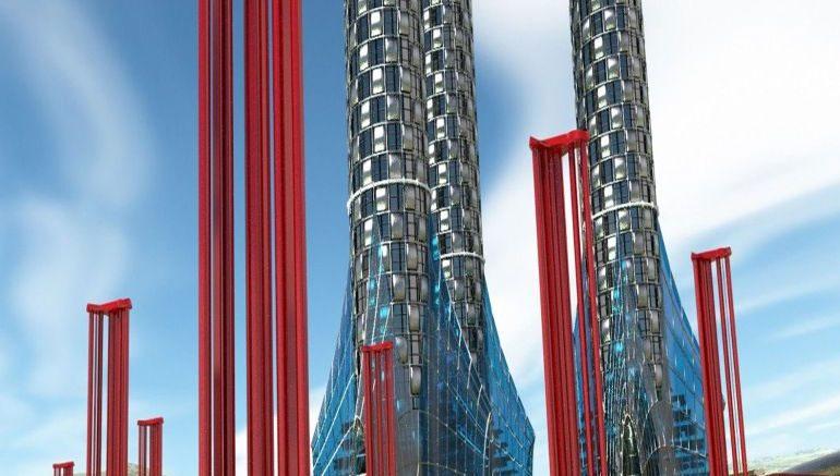Thiết kế các cột turbin gió.